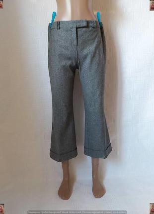 Фирменные river island теплые штаны/кюлоты на 45 % шерсть в се...
