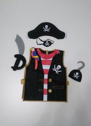 Костюм пирата для мальчика m&s р 128-146  5 предметов