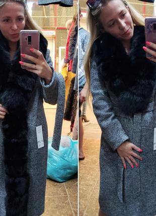 Зимние пальто с мехом финского песца