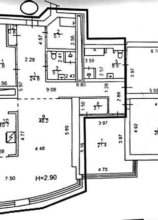 Шикарный офис в Carnegie Tower с видом на Лавру!№ 1418666