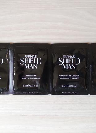 Шампуль, бальзам после бритья, крем Farmasi Shield Man