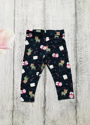 Крутые лосины штаны брюки новый год f&f 12-18мес