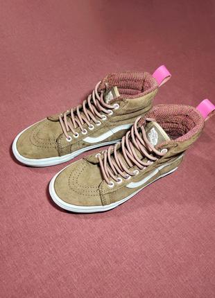 Высокие кеды vans sk8-hi mte skate shoes brown