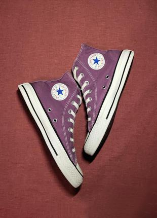 Кеды converse chuck taylor all star high purple