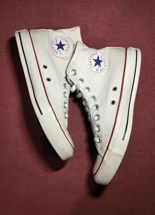 Высокое кеды converse chuck taylor all star hi optical white m...