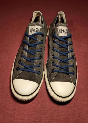 Кеды converse chuck taylor all star ox suede 132122c (charcoal)