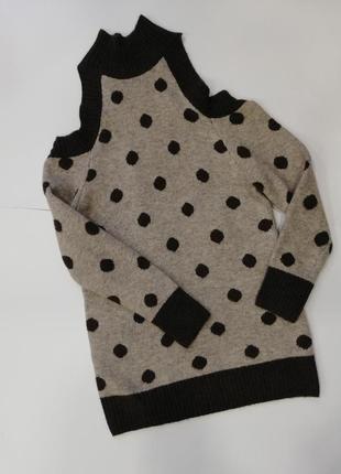 Туника свитер с открытыми плечами
