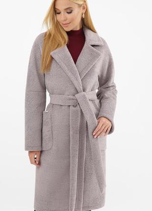 Теплое зимнее шерстяное пальто