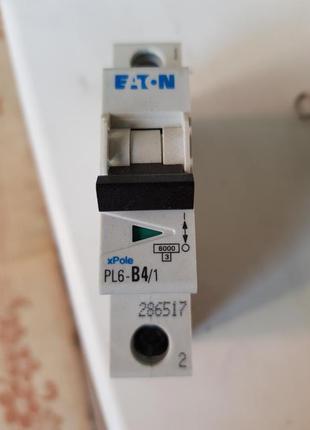 Автоматический выключатель PL-6 B 1p 4A EATON