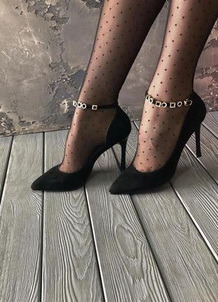 Туфли лодочки anemone, натуральная замша/кожа, осень 2019