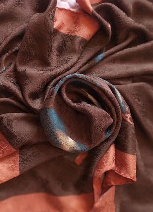 Шикарный люксовый подписной  шелковый платок Vip дома моды bally