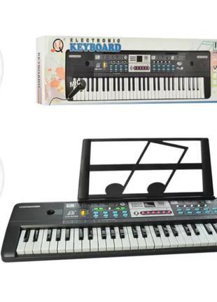 Пианино - детский синтезатор 61 клавиши, микрофон, запись, демо