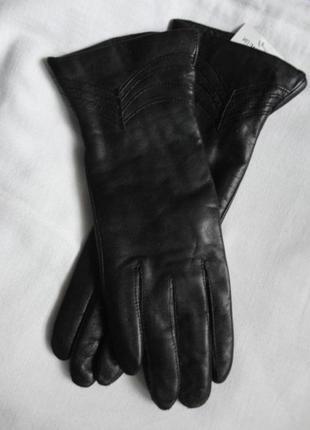Кожаные перчатки подкладка шерстяная вязка