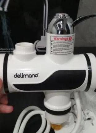 Проточный водонагреватель бойлер кран c LCD экраном Delimano