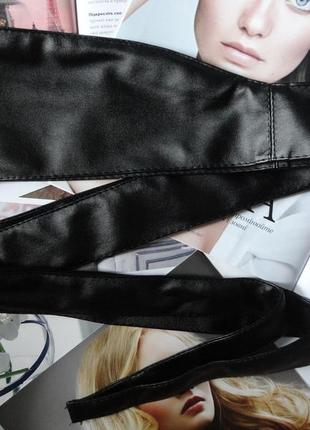 Женский пояс кушак чёрный широкий