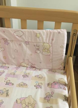 Дитяче ліжечко з дуба