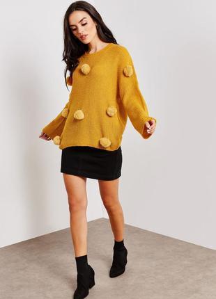 Милый свитер с помпонами only