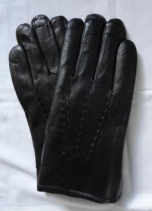 Теплые кожаные перчатки искусств мех