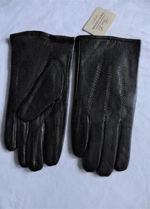 Кожаные перчатки, плюшевая подкладка