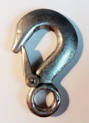 Карабин крюк никель 9.5 см