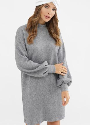 Стильное теплое платье осень/зима