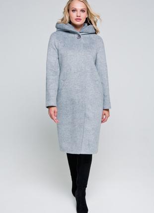 Зимнее утепленное пальто с капюшоном 42 - 56