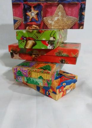 Коробка подарочная, картонная *Новогодняя* 15/7/3 см. N -501