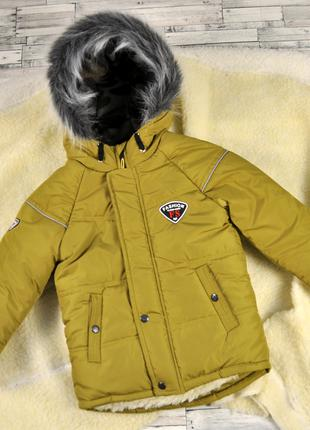 Зимняя куртка для мальчика рост 104