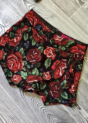 Юбка-шорты в цветочный принт