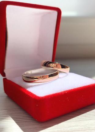 Кольцо обручальное серебро 925 с золотом срд 300