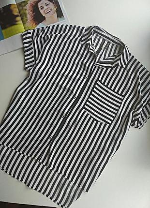 Рубашка,футболка в полоску s,m,l,стиль oversize