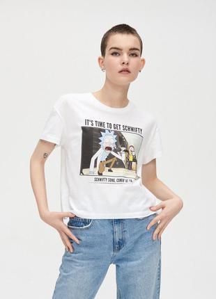 Скидка только 23.11❗белая футболка рик и морти rick & morty