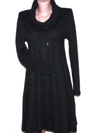 Роскошное платье теплое шерсть мохер hadamorgana италия м