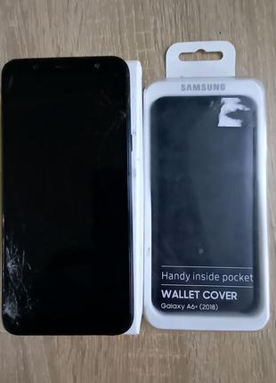 Samsung A6+ plus (2018) 3/32gb SM-A605FN+подарок чехол-книжка
