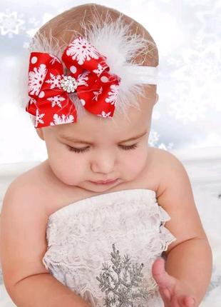 Новогодняя повязка, бантик, шапочка
