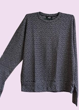 FAVELA Свитер кофта пуловер темно синий в полоску