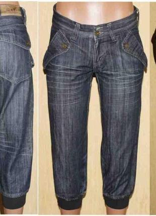 Модные бриджи джинс люкс бренд dolce & gabbana, оригинал! италия