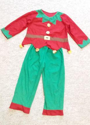 Новогодний костюм эльфа или клоуна