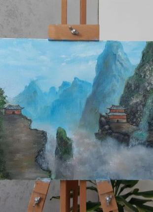 """Картина маслом """"Китайский пейзаж"""""""