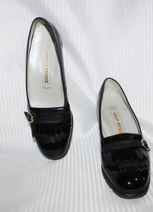 Туфли мега комфорт кожа лак танкетка люкс бренд bally