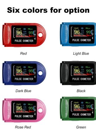 Пульсоксиметр PULSE OXIMETER цветной LCD дисплей