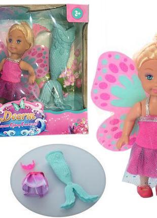 Кукла маленькая K899-80 (72шт/2) костюм русалочки, крылья бабочки