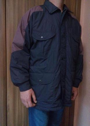 Утеплённая мужская куртка на синтепоне большого размера/батал