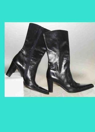 Полусапоги ботинки, чёрные кожа италия, vergelio 36р