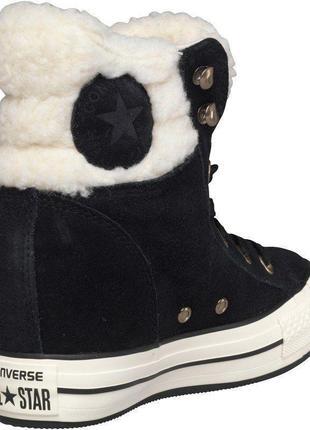 Замшевые  ботинки высокие  кроссовки с мехом,converse оригинал