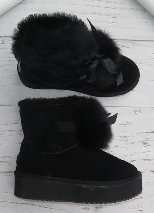 100% кожа зимние сапоги 39 зимові чоботи 39 ugg угги 39
