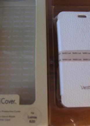 Чехол-книжка Vetti Craft Nokia Lumia 620  Hori Cover white