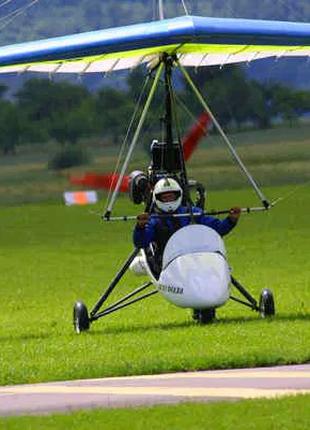 Полет на мотодельтаплане, дельтаплан. Політ на дельтаплані