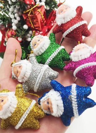 """Набор новогодних игрушек """"Дед Мороз"""" - 6шт."""