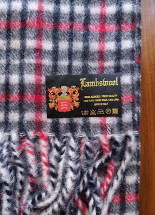 Шерстяной шарф lambswool (made in italy)